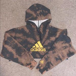 Adidas cropped bleached hoodie
